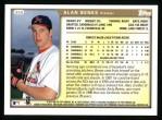 1999 Topps #359  Alan Benes  Back Thumbnail