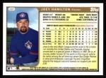 1999 Topps #381  Joey Hamilton  Back Thumbnail