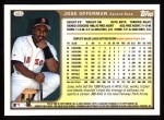 1999 Topps #403  Jose Offerman  Back Thumbnail