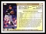 1999 Topps #413  Jim Parque  Back Thumbnail