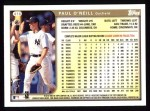 1999 Topps #416  Paul O'Neill  Back Thumbnail