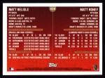 1999 Topps #438  Matt Belisle / Matt Roney  Back Thumbnail