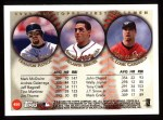 1999 Topps #450   -  Jeff Bagwell / Andres Galarraga / Mark McGwire All- 1B Back Thumbnail