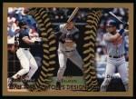 1999 Topps #456  Frank Thomas / Tim Salmon / David Justice  Front Thumbnail