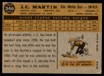 1960 Topps #346  J.C. Martin  Back Thumbnail
