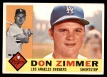 1960 Topps #47  Don Zimmer  Front Thumbnail