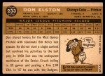 1960 Topps #233  Don Elston  Back Thumbnail