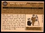 1960 Topps #244  Hal Griggs  Back Thumbnail