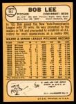 1968 Topps #543  Bob Lee  Back Thumbnail