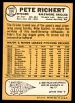 1968 Topps #354  Pete Richert  Back Thumbnail