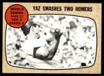 1968 Topps #152   -  Carl Yastrzemski 1967 World Series - Game #2 - Yaz Smashes Two Homers Front Thumbnail