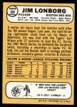 1968 Topps #460  Jim Lonborg  Back Thumbnail