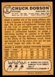 1968 Topps #62  Chuck Dobson  Back Thumbnail