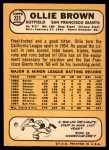1968 Topps #223  Ollie Brown  Back Thumbnail