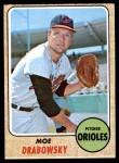1968 Topps #242  Moe Drabowsky  Front Thumbnail