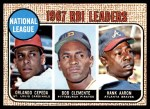 1968 Topps #3   -  Hank Aaron / Orlando Cepeda / Roberto Clemente NL RBI Leaders Front Thumbnail