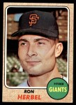1968 Topps #333  Ron Herbel  Front Thumbnail