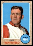 1968 Topps #133  Fred Whitfield  Front Thumbnail