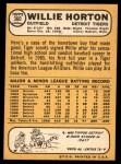 1968 Topps #360  Willie Horton  Back Thumbnail
