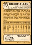 1968 Topps #225  Rich Allen  Back Thumbnail