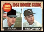 1968 Topps #539   -  Jim Ray / Mike Ferraro Major League Rookies Front Thumbnail