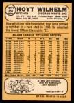 1968 Topps #350  Hoyt Wilhelm  Back Thumbnail