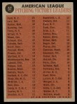 1962 Topps #57   -  Whitey Ford / Jim Bunning / Frank Lary / Steve Barber AL Win Leaders Back Thumbnail