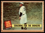 1962 Topps #142 GRN  -  Babe Ruth Coaching for the Dodgers Front Thumbnail