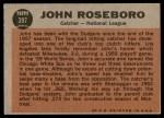 1962 Topps #397   -  John Roseboro All-Star Back Thumbnail