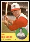 1963 Topps #282  Bobby Del Greco  Front Thumbnail