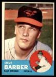 1963 Topps #12  Steve Barber  Front Thumbnail