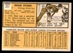 1963 Topps #271  Dean Stone  Back Thumbnail
