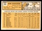 1963 Topps #395  Don McMahon  Back Thumbnail