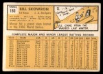 1963 Topps #180  Bill Skowron  Back Thumbnail