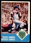 1963 Topps #146   -  Tom Tresh 1962 World Series - Game #5 - Tresh's Homer Defeats Giants Front Thumbnail