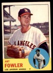 1963 Topps #454 WHI Art Fowler  Front Thumbnail