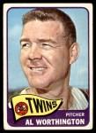 1965 Topps #216  Al Worthington  Front Thumbnail
