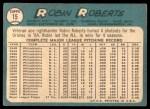 1965 Topps #15  Robin Roberts  Back Thumbnail