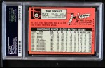 1969 Topps #501 WN Tony Gonzalez  Back Thumbnail