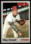 1970 Topps #133  Clay Carroll  Front Thumbnail