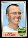 1968 Topps #547  Dan Coombs  Front Thumbnail