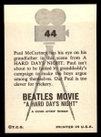 1964 Topps Beatles Movie #44   Paul & His Grandfather Back Thumbnail