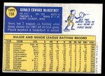 1970 Topps #158  Jerry McNertney  Back Thumbnail