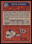 1973 Topps #286  Pete Athas  Back Thumbnail