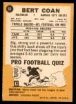 1967 Topps #63  Bert Coan  Back Thumbnail