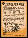 1967 Topps #65  Johnny Robinson  Back Thumbnail