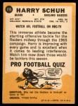 1967 Topps #115  Harry Schuh  Back Thumbnail