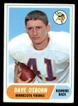 1968 Topps #29  Dave Osborn  Front Thumbnail
