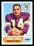 1968 Topps #107  Fred Cox  Front Thumbnail