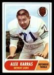 1968 Topps #130  Alex Karras  Front Thumbnail